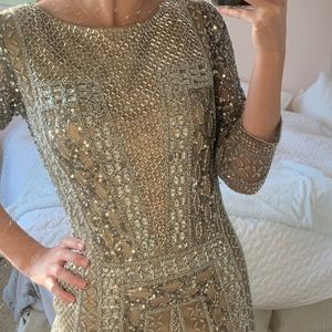 Gold Beaded Dress